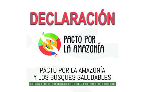 DECLARACIÓN: PACTO POR LA AMAZONÍA Y LOS BOSQUES SALUDABLES